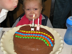 "He practiced blowing out the candles for days, but got upset when Conner swept in to ""help."""