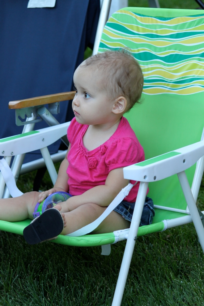 Audra enjoyed trying out as many chairs as she could (she's a regular old Goldilocks)